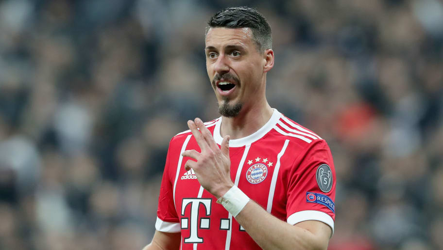 ISTANBUL, TURKEY - MARCH 14:  Sandro Wagner of FC Bayern Muenchen reacts during the UEFA Champions League Round of 16 Second Leg match Besiktas and Bayern Muenchen at Vodafone Park on March 14, 2018 in Istanbul, Turkey.  (Photo by Alexander Hassenstein/Bongarts/Getty Images)