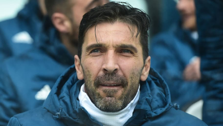 Juventus' Italian goalkeeper Gianluigi Buffon looks on before the Italian Serie A football match Juventus vs Udinese on March 11, 2018 at the Juventus stadium in Turin.  / AFP PHOTO / MIGUEL MEDINA        (Photo credit should read MIGUEL MEDINA/AFP/Getty Images)