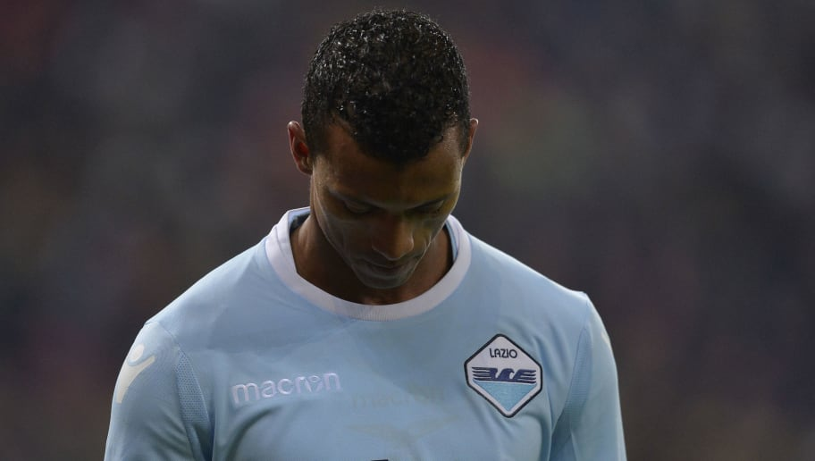 BUCHAREST, BUCAREST - FEBRUARY 15:  Luis Nani of SS Lazio reacts during UEFA Europa League Round of 32 match between Steaua Bucharest and Lazio at the National Arena on February 15, 2018 in Bucharest, Romania.  (Photo by Marco Rosi/Getty Images)