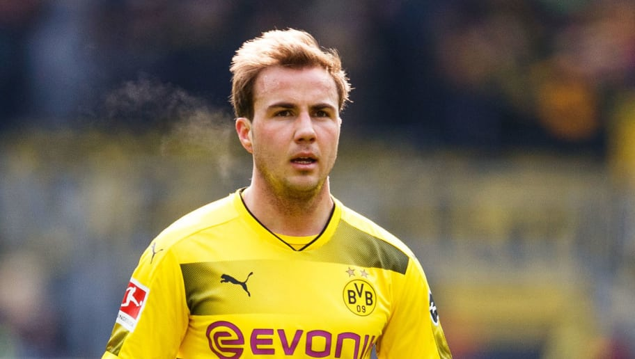 DORTMUND, GERMANY - MARCH 18:  Mario Goetze of Dortmund is seen during the Bundesliga match between Borussia Dortmund and Hannover 96 at Signal Iduna Park on March 18, 2018 in Dortmund, Germany.  (Photo by Lars Baron/Bongarts/Getty Images)