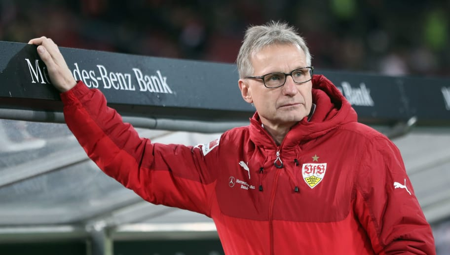STUTTGART, GERMANY - DECEMBER 08:  Michael Reschke looks on prior to the Bundesliga match between VfB Stuttgart and Bayer 04 Leverkusen at Mercedes-Benz Arena on December 8, 2017 in Stuttgart, Germany.  (Photo by Alex Grimm/Bongarts/Getty Images)