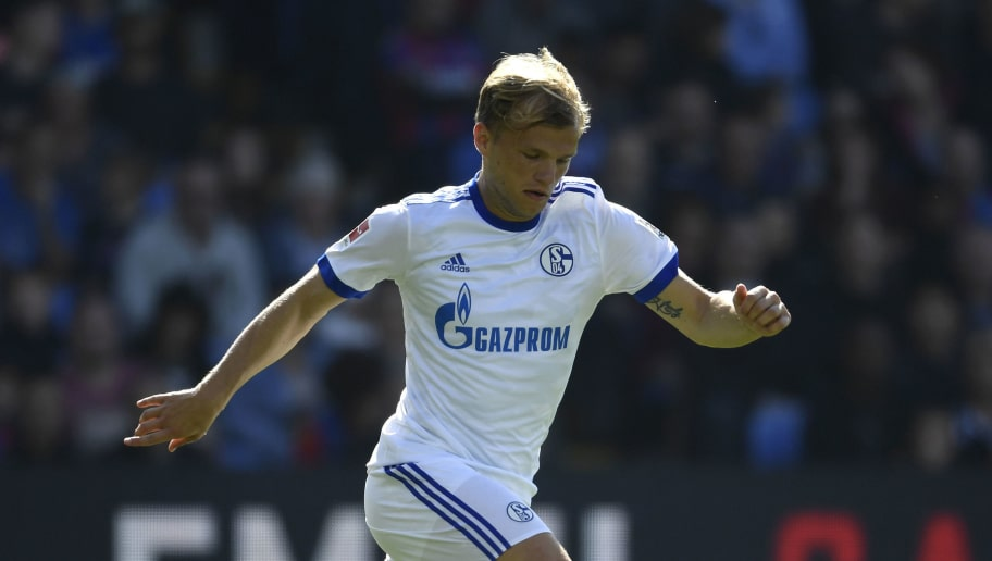 LONDON, ENGLAND - AUGUST 05:  Johannes Geis of Schalke in action during a Pre Season Friendly between Crystal Palace and FC Schalke 04 at Selhurst Park on August 5, 2017 in London, England.  (Photo by Mike Hewitt/Getty Images)