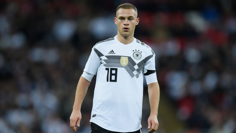 LONDON, ENGLAND - NOVEMBER 10: Joshua Kimmich of Germany seen during the International friendly match between England and Germany at Wembley Stadium on November 10, 2017 in London, England. (Photo by Matthias Hangst/Bongarts/Getty Images)