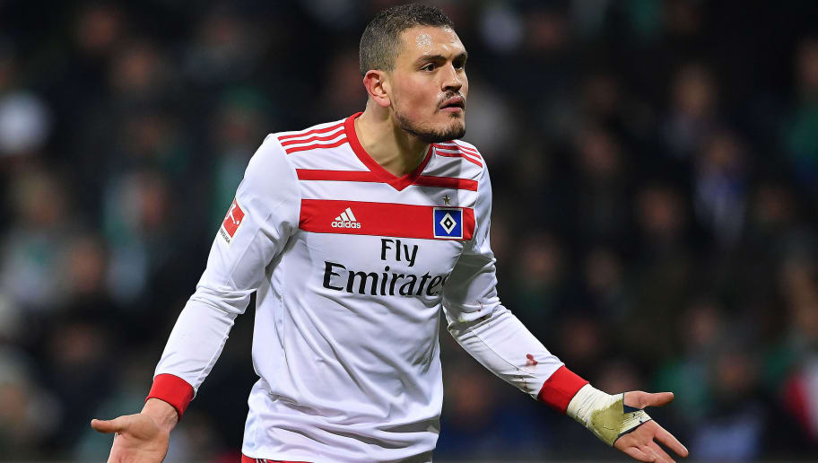 BREMEN, GERMANY - FEBRUARY 24: Kyriakos Papadopoulos of Hamburg looks on during the Bundesliga match between SV Werder Bremen and Hamburger SV at Weserstadion on February 24, 2018 in Bremen, Germany. (Photo by Stuart Franklin/Bongarts/Getty Images)