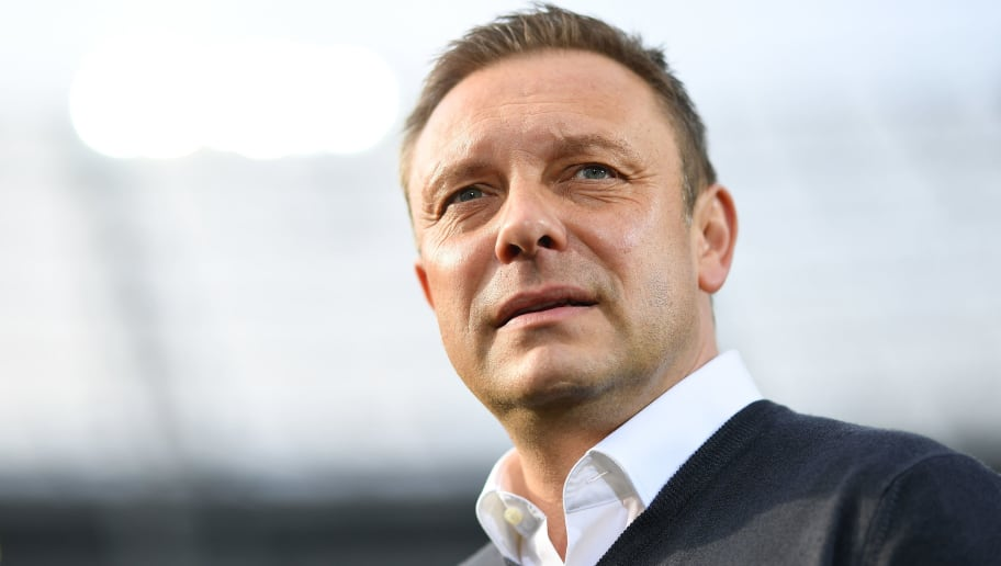 HANOVER, GERMANY - MARCH 10:  Andre Breitenreiter, head coach of Hannover looks on during the Bundesliga match between Hannover 96 and FC Augsburg at HDI-Arena on March 10, 2018 in Hanover, Germany.  (Photo by Stuart Franklin/Bongarts/Getty Images)