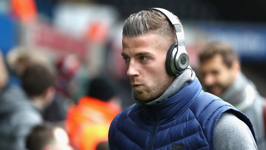 SWANSEA, WALES - MARCH 17:  Toby Alderweireld of Spura arrives prior to The Emirates FA Cup Quarter Final match between Swansea City and Tottenham Hotspur at Liberty Stadium on March 17, 2018 in Swansea, Wales.  (Photo by Catherine Ivill/Getty Images)