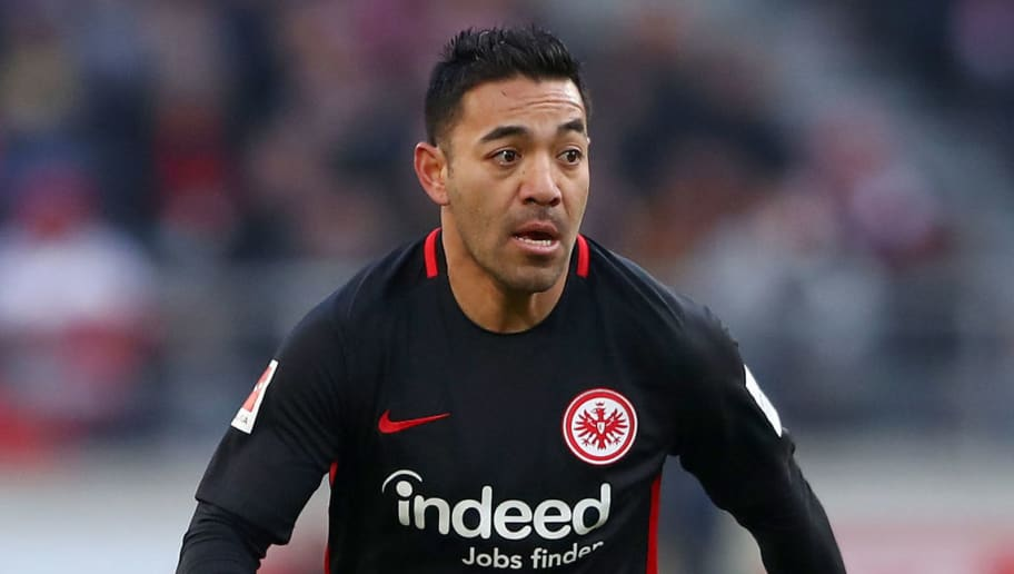 STUTTGART, GERMANY - FEBRUARY 24:  Marco Fabian of Frankfurt controls the ball during the Bundesliga match between VfB Stuttgart and Eintracht Frankfurt at Mercedes-Benz Arena on February 24, 2018 in Stuttgart, Germany. (Photo by Alex Grimm/Bongarts/Getty Images)