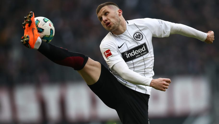 FRANKFURT AM MAIN, GERMANY - MARCH 03: Ante Rebic #4 of Eintracht Frankfurt controls the ball during the Bundesliga match between Eintracht Frankfurt and Hannover 96 at Commerzbank-Arena on March 3, 2018 in Frankfurt am Main, Germany. (Photo by Maja Hitij/Bongarts/Getty Images)