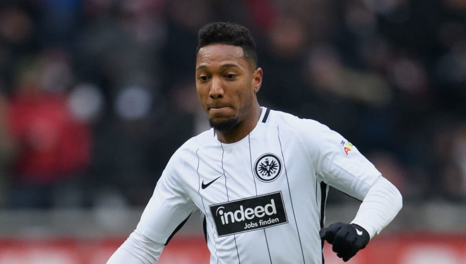 FRANKFURT AM MAIN, GERMANY - MARCH 17: Jonathan de Guzman of Frankfurt controls the ball during the Bundesliga match between Eintracht Frankfurt and 1. FSV Mainz 05 at Commerzbank-Arena on March 17, 2018 in Frankfurt am Main, Germany. (Photo by Matthias Hangst/Bongarts/Getty Images)