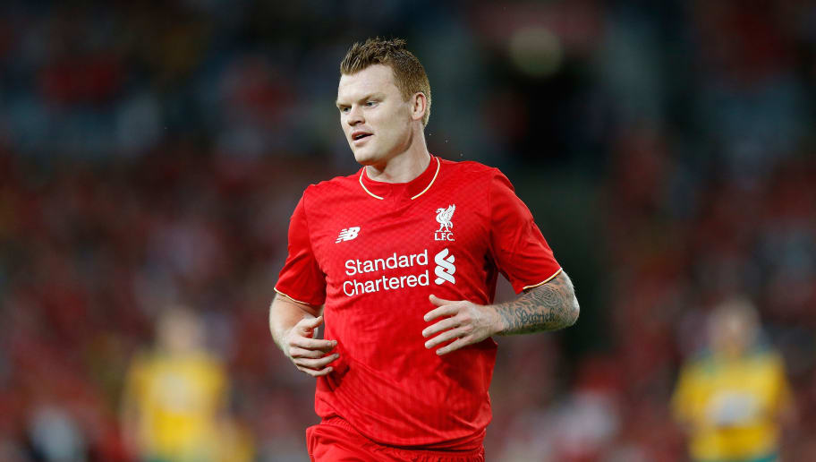 SYDNEY, AUSTRALIA - JANUARY 07:  John Arne Riise of Liverpool FC Legends in action during the match between Liverpool FC Legends and the Australian Legends at ANZ Stadium on January 7, 2016 in Sydney, Australia.  (Photo by Zak Kaczmarek/Getty Images)