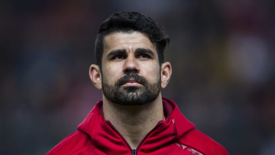 GIJON, SPAIN - MARCH 24:  Diego Costa of Spain looks on prior to the FIFA 2018 World Cup Qualifier between Spain and Israel at Estadio El Molinon on March 24, 2017 in Gijon, Spain.  (Photo by Juan Manuel Serrano Arce/Getty Images)