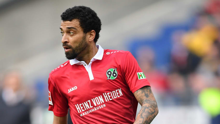 HANOVER, GERMANY - MARCH 10:  Felipe of Hannover in action during the Bundesliga match between Hannover 96 and FC Augsburg at HDI-Arena on March 10, 2018 in Hanover, Germany.  (Photo by Stuart Franklin/Bongarts/Getty Images)