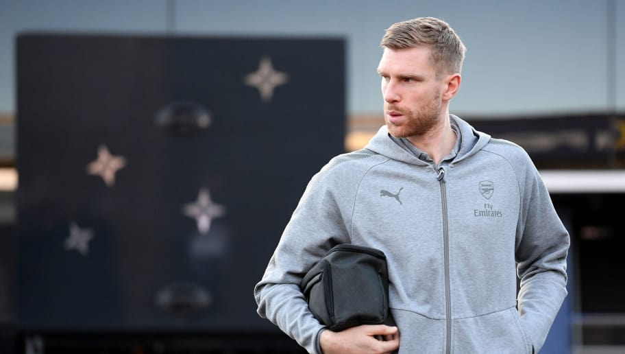NOTTINGHAM, ENGLAND - JANUARY 07: Per Mertesacker of Arsenal arrives for The Emirates FA Cup Third Round match between Nottingham Forest and Arsenal at City Ground on January 7, 2018 in Nottingham, England.  (Photo by Laurence Griffiths/Getty Images)