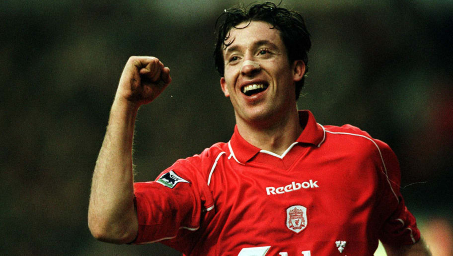 3 Feb 2001: Robbie Fowler of Liverpool celebrates after scoring the third goal during the Liverpool v West Ham United FA Carling Premiership match at Anfield, Liverpool. Mandatory Credit: Clive Brunskill/ALLSPORT