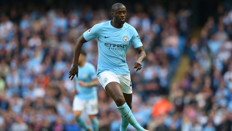 MANCHESTER, ENGLAND - OCTOBER 14:  Yaya Toure of Manchester City during the Premier League match between Manchester City and Stoke City at Etihad Stadium on October 14, 2017 in Manchester, England.  (Photo by Alex Livesey/Getty Images)