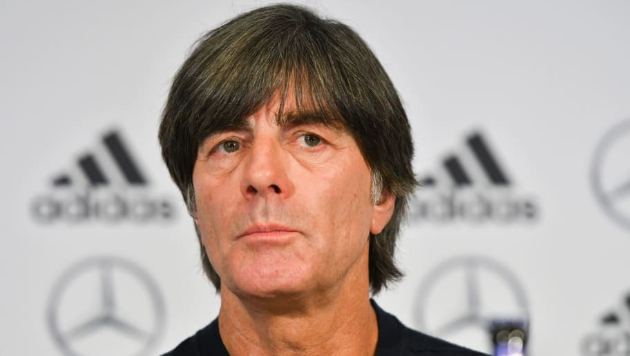 Germany's headcoach Joachim Loew addresses a press conference one day ahead of the team's international friendly match against Spain on March 22, 2018 in Duesseldorf. / AFP PHOTO / Patrik STOLLARZ        (Photo credit should read PATRIK STOLLARZ/AFP/Getty Images)