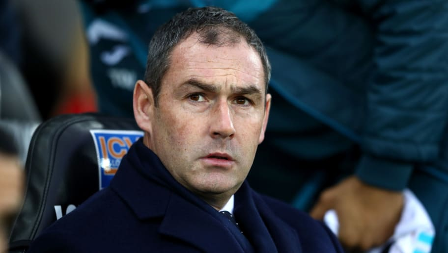SWANSEA, WALES - DECEMBER 09:  Paul Clement, Manager of Swansea City looks on prior to the Premier League match between Swansea City and West Bromwich Albion at Liberty Stadium on December 9, 2017 in Swansea, Wales.  (Photo by Michael Steele/Getty Images)