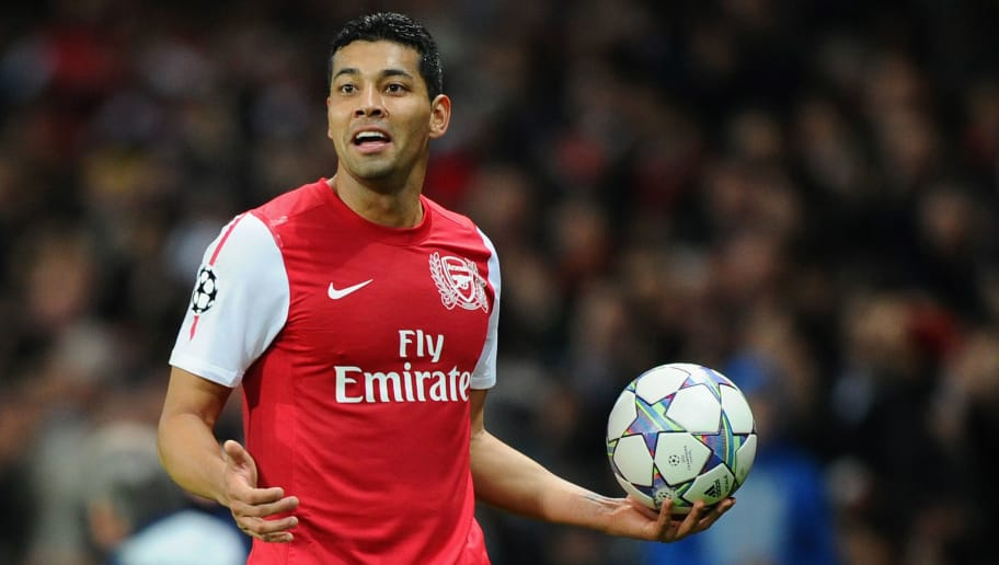 LONDON, ENGLAND - NOVEMBER 23:  Andre Santos of Arsenal looks on during the UEFA Champions League Group F match between Arsenal FC and Borussia Dortmund  at Emirates Stadium on November 23, 2011 in London, England.  (Photo by Mike Hewitt/Getty Images)