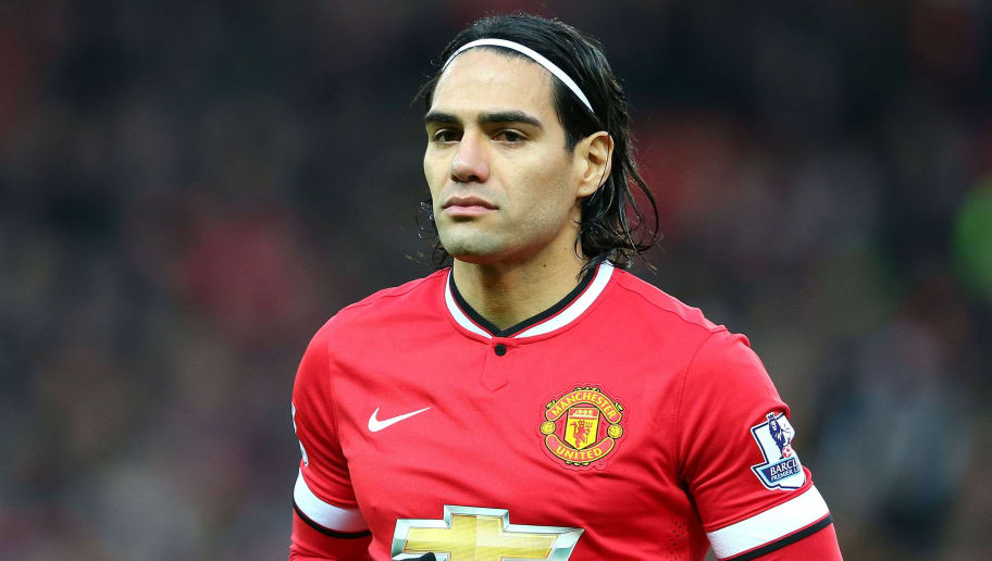 MANCHESTER, ENGLAND - DECEMBER 26:  Radamel Falcao of Manchester United looks on prior to the Barclays Premier League match between Manchester United and Newcastle United at Old Trafford on December 26, 2014 in Manchester, England.  (Photo by Alex Livesey/Getty Images)