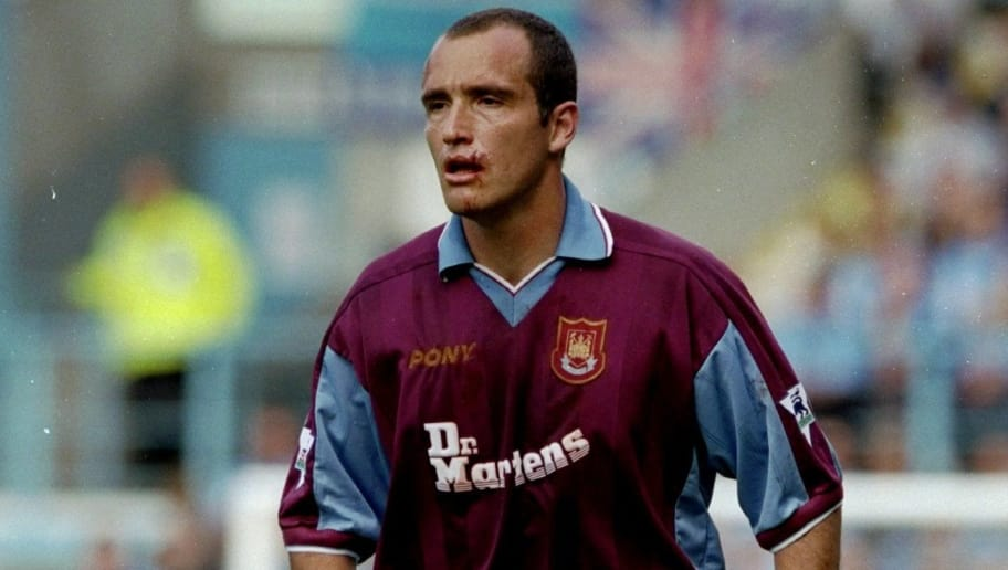 29 Aug 1998:  Javier Margas of West Ham United during the FA Carling Premiership game against Coventry City at Highfield Road, Coventry, England. The game ended 0-0. \ Mandatory Credit: Stu Forster /Allsport