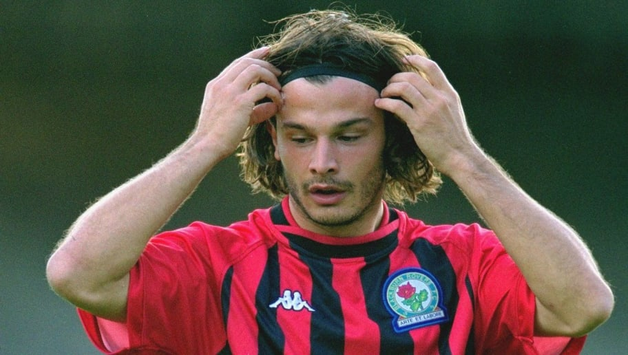 30 Jul 2001:  Corrado Grabbi of Blackburn Rovers during the pre-season friendly against Port Vale at Vale Park in Stoke-On-Trent, England. \ Mandatory Credit: Gary M Prior /Allsport