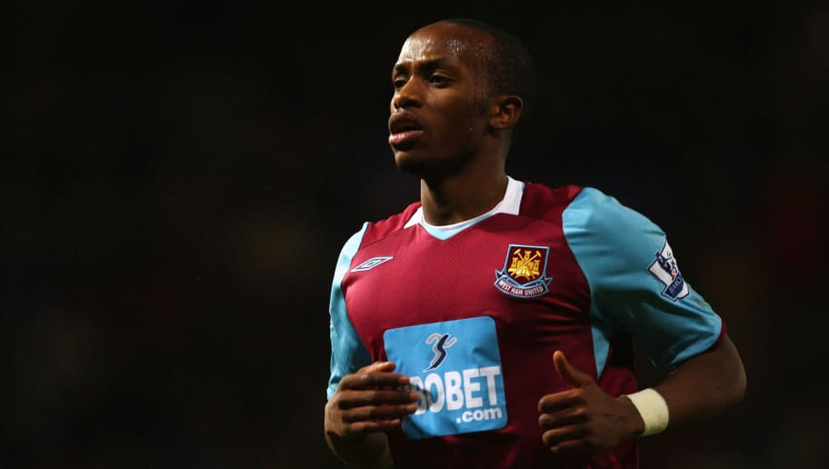 LONDON - FEBRUARY 08:  Savio Nsereko of West Ham United looks on during the Barclays Premier League match between West Ham United and Manchester United at Upton Park on February 8, 2009 in London, England.  (Photo by Richard Heathcote/Getty Images)