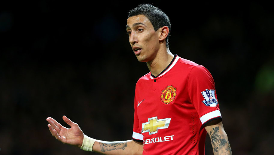 MANCHESTER, ENGLAND - OCTOBER 26:  Angel Di Maria of Manchester United gestures during the Barclays Premier League match between Manchester United and Chelsea at Old Trafford on October 26, 2014 in Manchester, England.  (Photo by Alex Livesey/Getty Images)