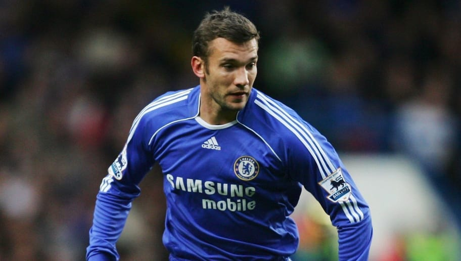 LONDON - NOVEMBER 11:  Andriy Shevchenko of Chelsea runs with the ball during the Barclays Premiership match between Chelsea and Watford at Stamford Bridge on November 11, 2006 in London, England.  (Photo by Julian Finney/Getty Images)