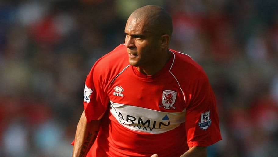MIDDLESBROUGH, UNITED KINGDOM - SEPTEMBER 27:  Afonso Alves of Middlesbrough during the Barclays Premier League match between Middlesbrough and West Bromwich Albion at the Riverside Stadium on September 27, 2008 in Middlesbrough, England.  (Photo by Julian Finney/Getty Images)