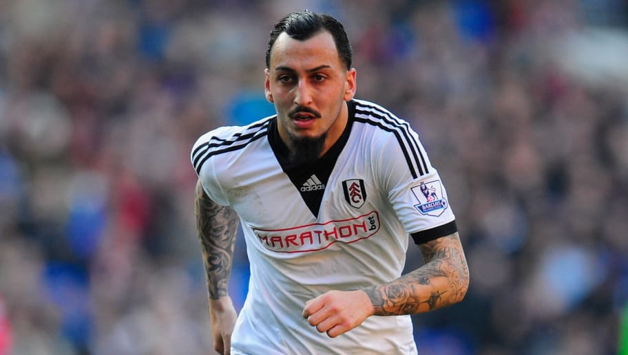 CARDIFF, WALES - MARCH 08:  Konstantinos Mitroglou of Fulham in action during the Barclays Premier league match between Cardiff City and Fulham at Cardiff City Stadium on March 8, 2014 in Cardiff, Wales.  (Photo by Stu Forster/Getty Images)