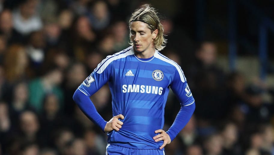 LONDON, ENGLAND - DECEMBER 31: Fernando Torres of Chelsea looks dejected during the Barclays Premier League match between Chelsea and Aston Villa at Stamford Bridge on December 31, 2011 in London, England.  (Photo by Ian Walton/Getty Images)