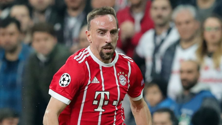 ISTANBUL, TURKEY - MARCH 14:  Franck Ribery  of FC Bayern Muenchen runs with the ball during the UEFA Champions League Round of 16 Second Leg match Besiktas and Bayern Muenchen at Vodafone Park on March 14, 2018 in Istanbul, Turkey.  (Photo by Alexander Hassenstein/Bongarts/Getty Images)