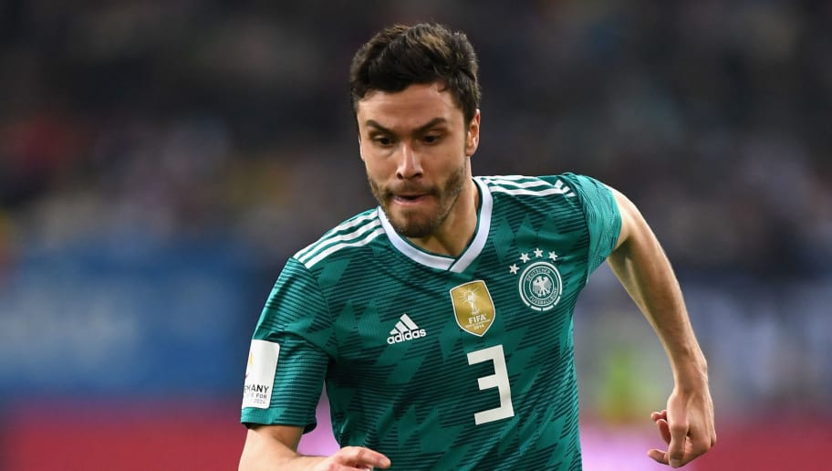 DUESSELDORF, GERMANY - MARCH 23:  Jonas Hector of Germany during the International friendly match between Germany and Spain at Esprit-Arena on March 23, 2018 in Duesseldorf, Germany.  (Photo by Matthias Hangst/Bongarts/Getty Images)