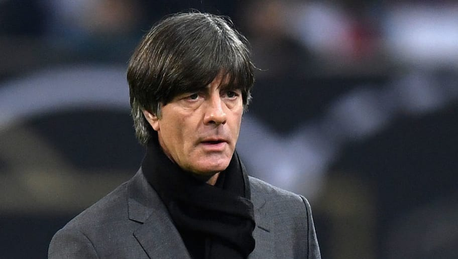 DUESSELDORF, GERMANY - MARCH 23:  Joachim Low, Manager of Germany looks on during the International friendly match between Germany and Spain at Esprit-Arena on March 23, 2018 in Duesseldorf, Germany.  (Photo by Matthias Hangst/Bongarts/Getty Images)