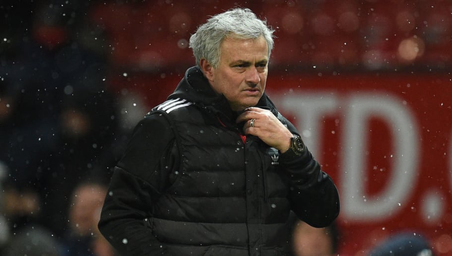 dc36f76dd Manchester United s Portuguese manager Jose Mourinho reacts after the  English FA Cup quarter-final football