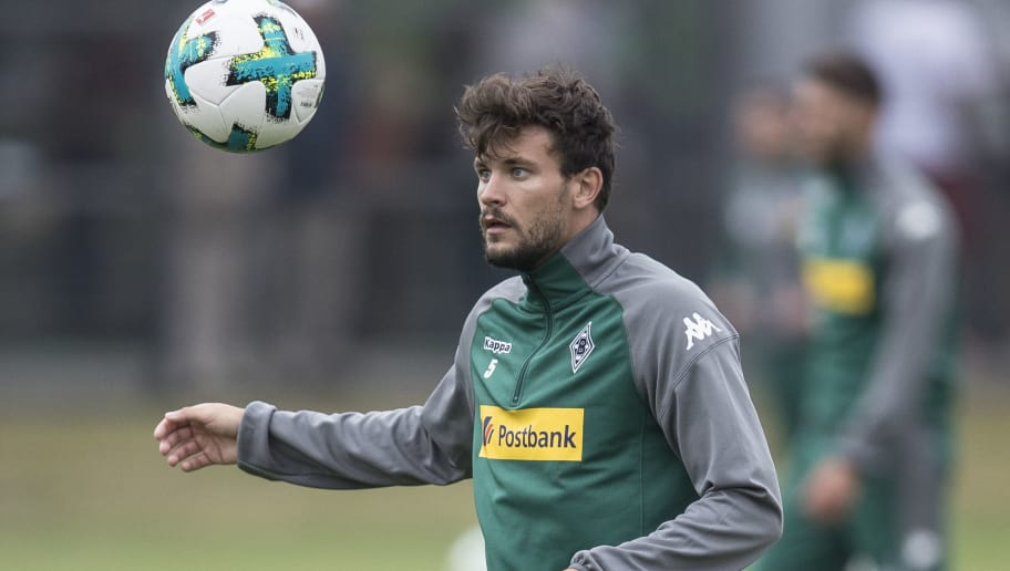 MOENCHENGLADBACH, GERMANY - JULY 02: Tobias Strobl of Moenchengladbach controls the ball during Training Session on July 2, 2017 in Moenchengladbach, Germany. (Photo by Maja Hitij/Bongarts/Getty Images)