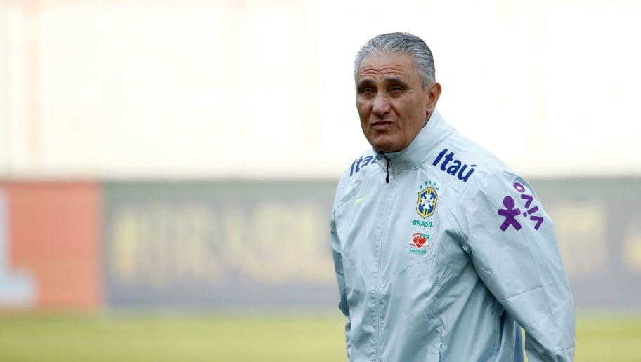 Brazil's headcoach Tite attends a training session of the Brazilian team ahead of their friendly match Germany vs Brazil in Berlin, Germany, on March 24, 2018, in preparation of the 2018 Fifa World Cup. Germany plays against Brazil on March 27, 2018. / AFP PHOTO / Odd ANDERSEN        (Photo credit should read ODD ANDERSEN/AFP/Getty Images)