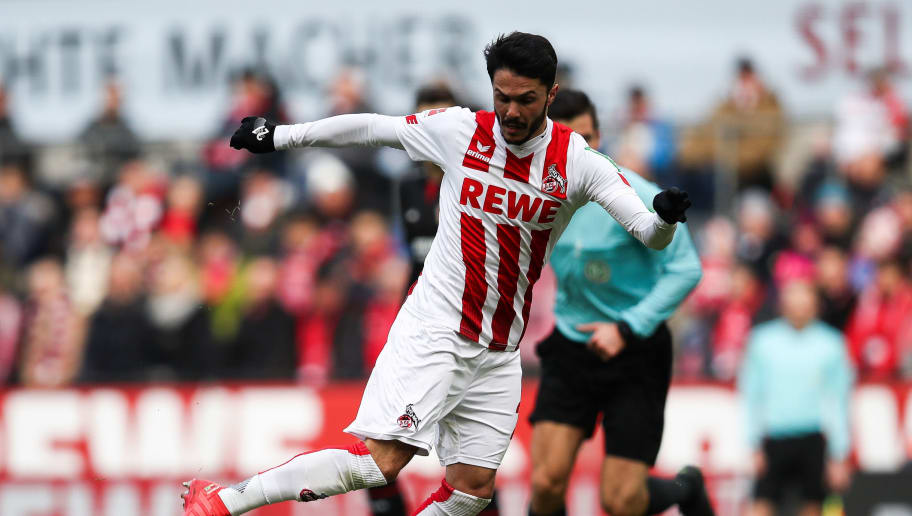 COLOGNE, GERMANY - MARCH 18: Leonardo Bittencourt #21 of 1.FC Koeln controls the ball during the Bundesliga match between 1. FC Koeln and Bayer 04 Leverkusen at RheinEnergieStadion on March 18, 2018 in Cologne, Germany. (Photo by Maja Hitij/Bongarts/Getty Images)