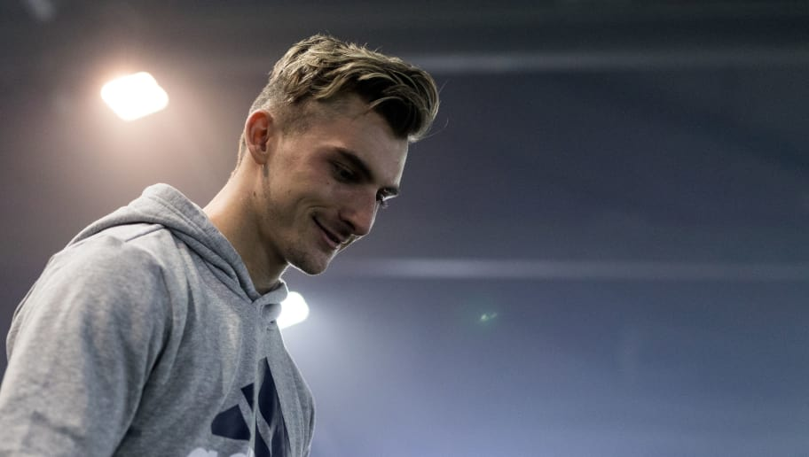 BERLIN, BERLIN - MARCH 25:  First presentation of Borussia Dortmund player Maximilian Philipp at Tango League Berlin by adidas at The Base on March 25, 2018 in Berlin, Germany.  (Photo by Boris Streubel/Getty Images)