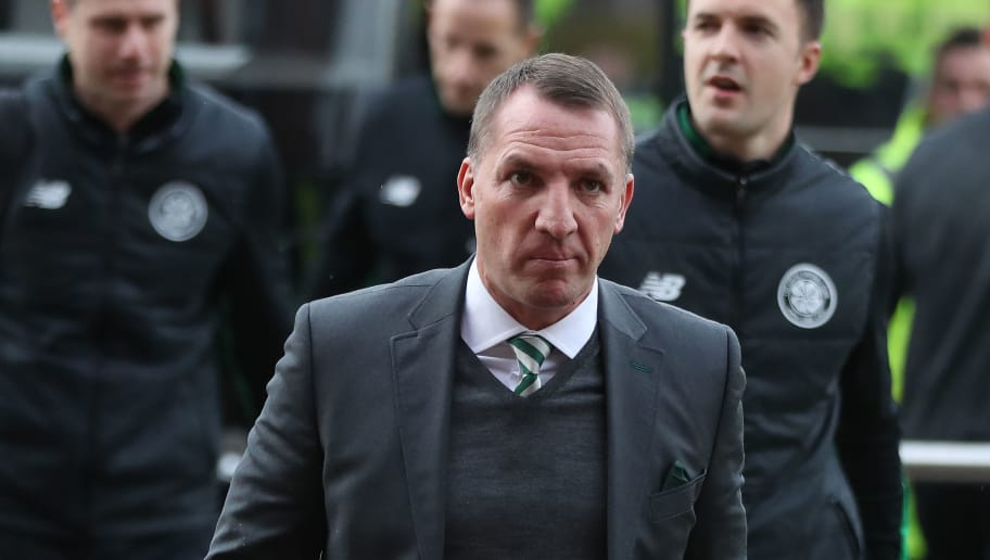 GLASGOW, SCOTLAND - DECEMBER 30: Celtic manager Brendan Rodgers arrives at the stadium prior to the Scottish Premier League match between Celtic and Ranger at Celtic Park on December 30, 2017 in Glasgow, Scotland. (Photo by Ian MacNicol/Getty Images)