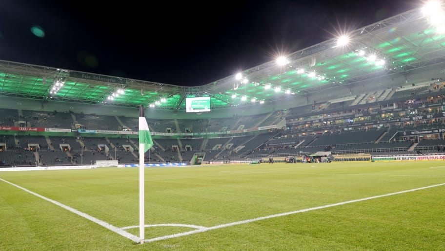 MOENCHENGLADBACH, GERMANY - MARCH 02: General view of the  of the new pitch prior to the Bundesliga match between Borussia Moenchengladbach and SV Werder Bremen at Borussia-Park on March 2, 2018 in Moenchengladbach, Germany. (Photo by Christof Koepsel/Bongarts/Getty Images)