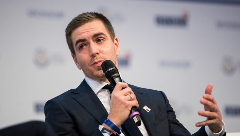 DUSSELDORF, GERMANY - JANUARY 30: Phillip Lahm speaks at SPOBIS 2018 at CCD Congress Center Duesseldorf on January 30, 2018 in Dusseldorf, Germany. (Photo by Maja Hitij/Bongarts/Getty Images)