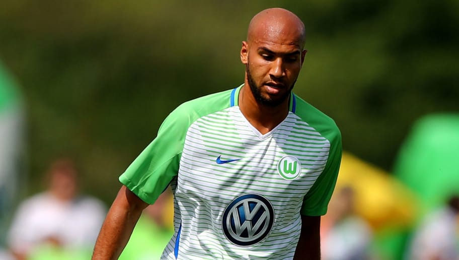 GIFHORN, GERMANY - JULY 08:  John Anthony Brooks of Wolfsburg runs with the ball during the preseason friendly match between Gifhorner SV and VfL Wolfsburg at GWG Stadium on July 8, 2017 in Gifhorn, Germany.  (Photo by Martin Rose/Bongarts/Getty Images)