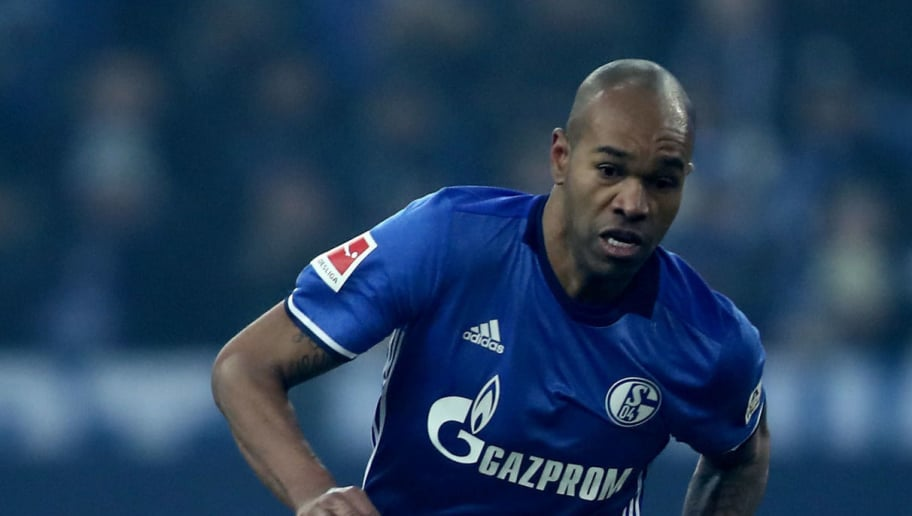 GELSENKIRCHEN, GERMANY - MARCH 03: Naldo of Schalke runs with the ball during the Bundesliga match between FC Schalke 04 and Hertha BSC at Veltins-Arena on March 3, 2018 in Gelsenkirchen, Germany. (Photo by Christof Koepsel/Bongarts/Getty Images)