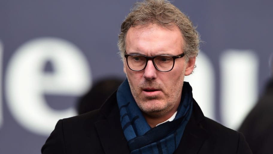 Paris Saint-Germain's and Bordeaux's former head coach Laurent Blanc looks on from the stands as he attends the French L1 football match between Bordeaux (FCGB) and Rennes (SRFC) on March 17, 2018, at the Matmut Atlantique Stadium in Bordeaux, southwestern France. / AFP PHOTO / NICOLAS TUCAT        (Photo credit should read NICOLAS TUCAT/AFP/Getty Images)
