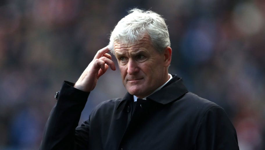 COVENTRY, ENGLAND - JANUARY 06:  Mark Hughes, Manager of Stoke City during the The Emirates FA Cup Third Round match between Coventry City and Stoke City at Ricoh Arena on January 6, 2018 in Coventry, England.  (Photo by Matthew Lewis/Getty Images)
