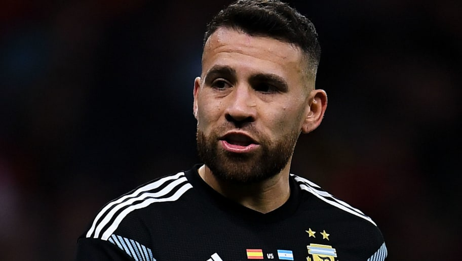MADRID, SPAIN - MARCH 27:  Nicolas Otamendi of Argentina looks on during an International friendly match between Spain and Argentina at the Wanda Metropolitano stadium on March 27, 2018 in Madrid, Spain.  (Photo by David Ramos/Getty Images)