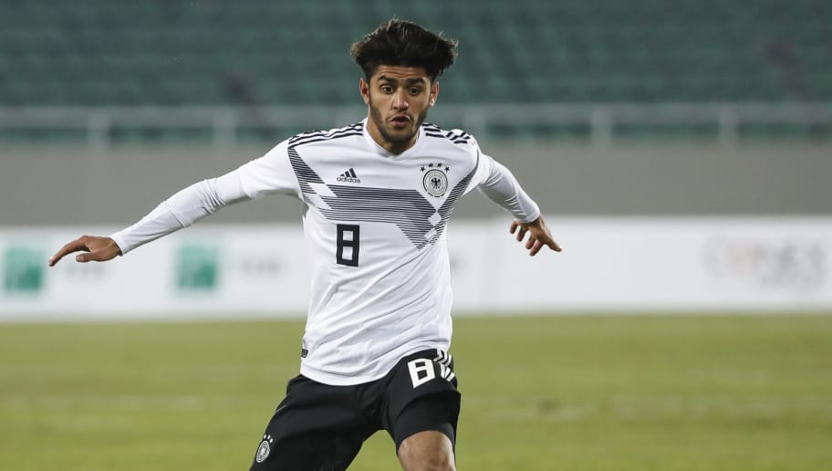 MITROVICA, KOSOVO - MARCH 27: Mahmoud Dahoud of Germany in action during the 2019 UEFA Under21 European Championship qualifier match between Kosovo U21 and Germany U21 at Adem-Jashari-Stadium on  March 27, 2018 in Mitrovica, Kosovo. (Photo by Srdjan Stevanovic/Bongarts/Getty Images)