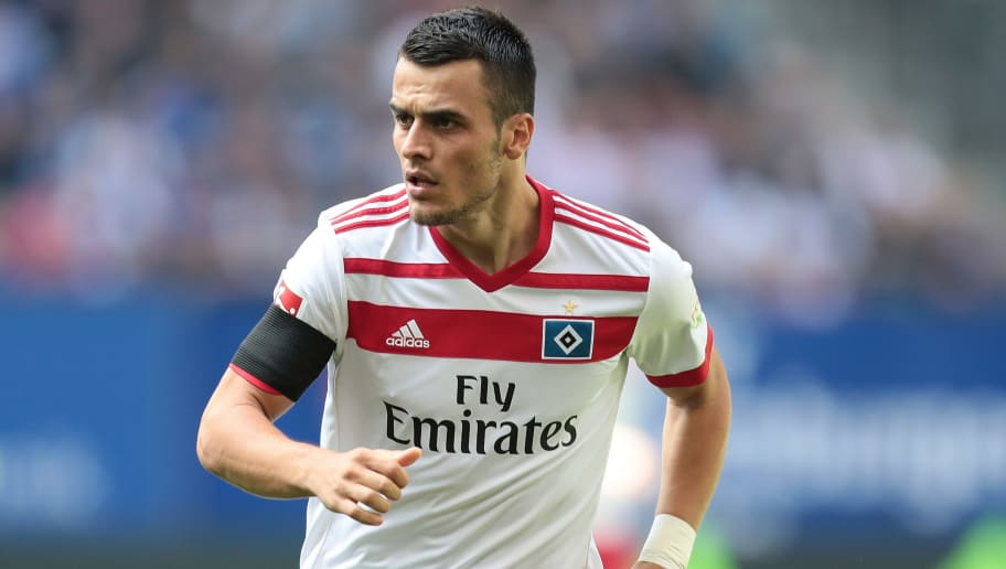 HAMBURG, GERMANY - AUGUST 19:  Filip Kostic of Hamburg in action during the Bundesliga match between Hamburger SV and FC Augsburg at Volksparkstadion on August 19, 2017 in Hamburg, Germany.  (Photo by Oliver Hardt/Bongarts/Getty Images)