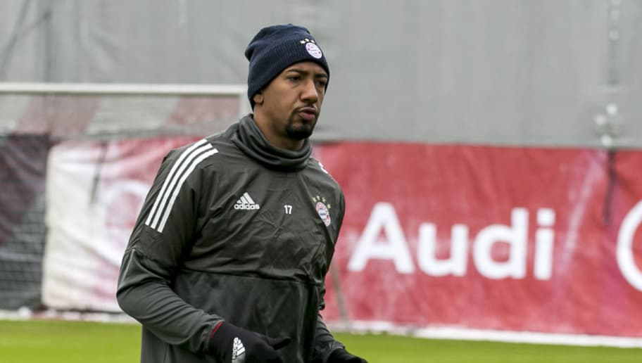 MUNICH, GERMANY - FEBRUARY 19: Jerome Boateng of FC Bayern Muenchen during a training session ahead the champions league match between FC Bayern Munich and Besiktas Istanbul on February 19, 2018 in Munich, Germany. (Photo by Jan Hetfleisch/Bongarts/Getty Images)